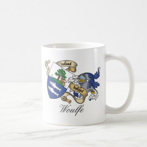 Escudo de la familia de Woulfe Tazas De Café
