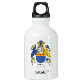 Escudo de la familia de Wray Botella De Agua