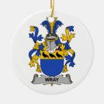 Escudo de la familia de Wray Ornamento Para Reyes Magos