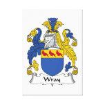 Escudo de la familia de Wray Impresión En Lona