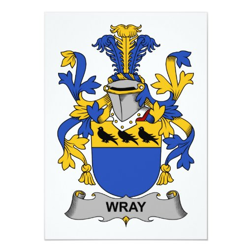 Escudo de la familia de Wray Invitación 12,7 X 17,8 Cm