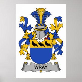 Escudo de la familia de Wray Póster