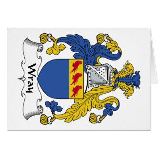 Escudo de la familia de Wray Tarjeta De Felicitación