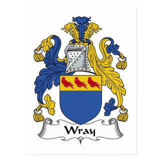 Escudo de la familia de Wray Tarjetas Postales