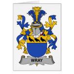 Escudo de la familia de Wray Tarjetón