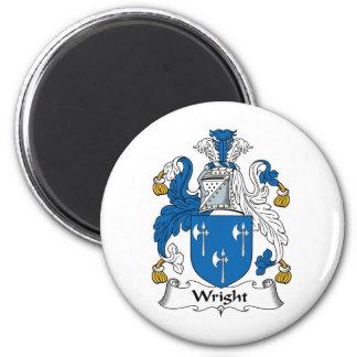 Escudo de la familia de Wright Imán Redondo 5 Cm