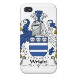 Escudo de la familia de Wright iPhone 4 Fundas