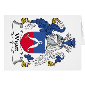 Escudo de la familia de Wyatt Tarjeta De Felicitación