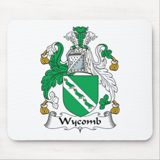 Escudo de la familia de Wycomb Tapetes De Raton