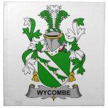 Escudo de la familia de Wycombe Servilletas