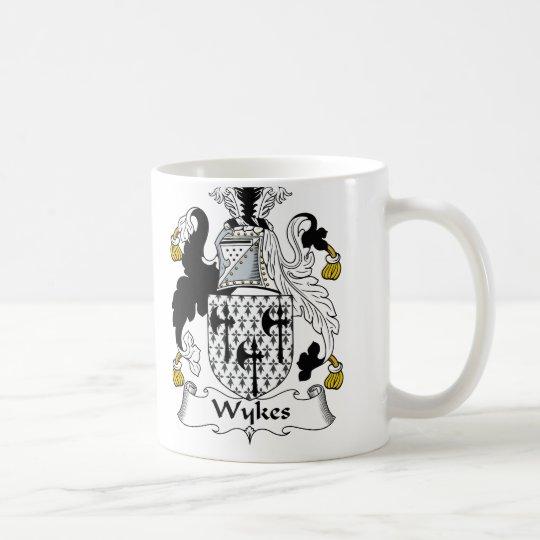 Escudo de la familia de Wykes Taza De Café