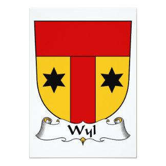 """Escudo de la familia de Wyl Invitación 5"""" X 7"""""""