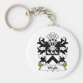 Escudo de la familia de Wyld Llavero Redondo Tipo Pin