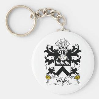 Escudo de la familia de Wylde Llavero Redondo Tipo Pin