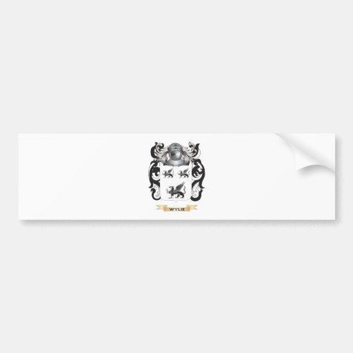 Escudo de la familia de Wylie (escudo de armas) Pegatina De Parachoque