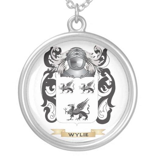 Escudo de la familia de Wylie (escudo de armas) Colgante Redondo