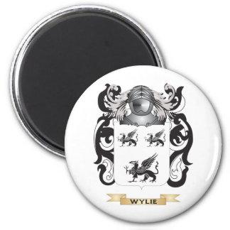 Escudo de la familia de Wylie (escudo de armas) Imanes