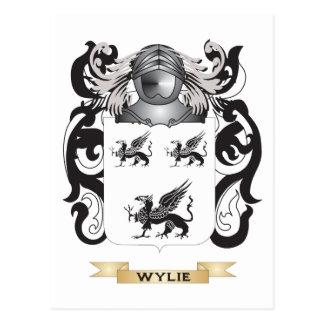 Escudo de la familia de Wylie (escudo de armas) Postal