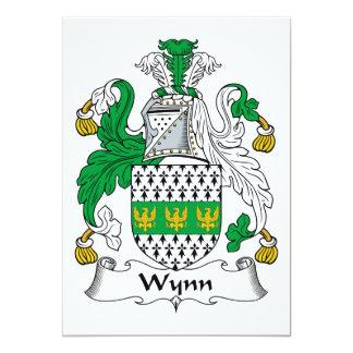 """Escudo de la familia de Wynn Invitación 5"""" X 7"""""""