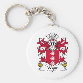 Escudo de la familia de Wynn Llavero Redondo Tipo Pin