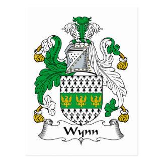 Escudo de la familia de Wynn Tarjetas Postales