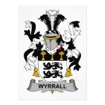 Escudo de la familia de Wyrrall Invitaciones Personales