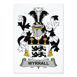 """Escudo de la familia de Wyrrall Invitación 5"""" X 7"""""""