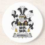 Escudo de la familia de Wyrrall Posavasos Cerveza