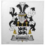 Escudo de la familia de Wyrrall Servilletas De Papel