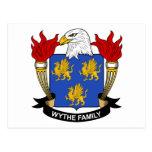 Escudo de la familia de Wythe Postales