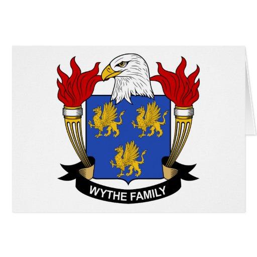 Escudo de la familia de Wythe Tarjetón