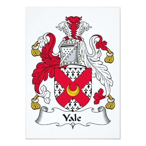 """Escudo de la familia de Yale Invitación 5"""" X 7"""""""