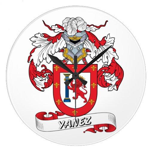 Escudo de la familia de Yáñez Reloj Redondo Grande