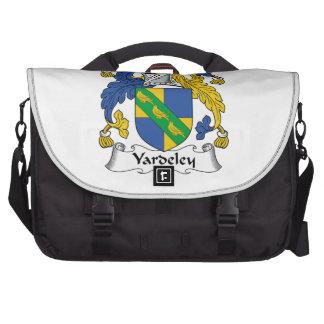 Escudo de la familia de Yardeley Bolsas De Ordenador