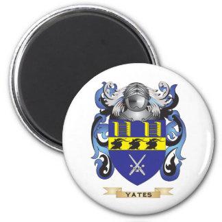 Escudo de la familia de Yates (escudo de armas) Imanes Para Frigoríficos
