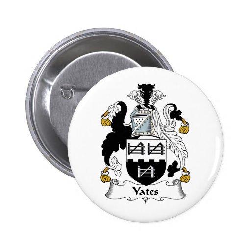 Escudo de la familia de Yates Pin