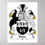 Escudo de la familia de Yates Poster