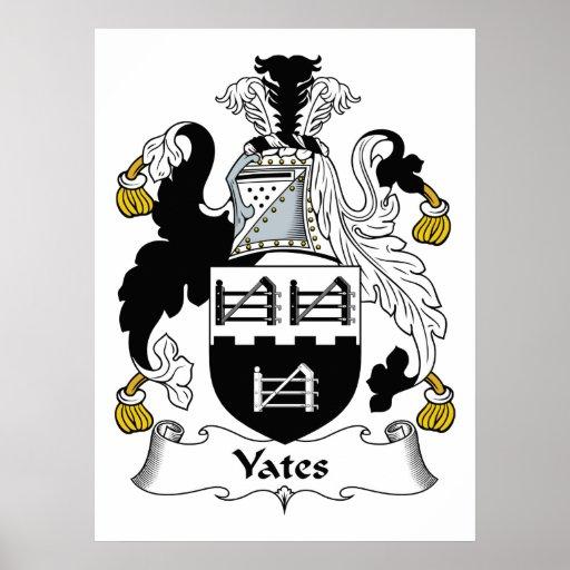 Escudo de la familia de Yates Póster