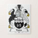 Escudo de la familia de Yates Rompecabeza
