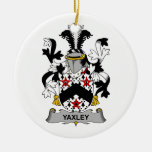 Escudo de la familia de Yaxley Ornamento De Navidad