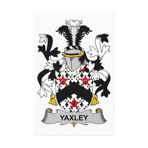 Escudo de la familia de Yaxley Lona Envuelta Para Galerías