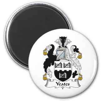 Escudo de la familia de Yeates Imán Redondo 5 Cm