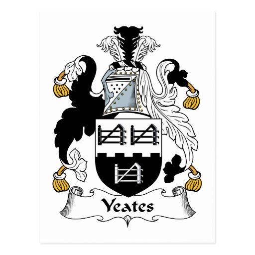 Escudo de la familia de Yeates Postal