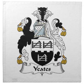 Escudo de la familia de Yeates Servilleta De Papel