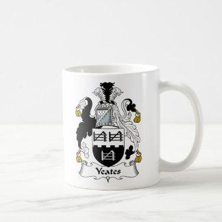 Escudo de la familia de Yeates Tazas