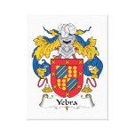 Escudo de la familia de Yebra Lienzo Envuelto Para Galerías