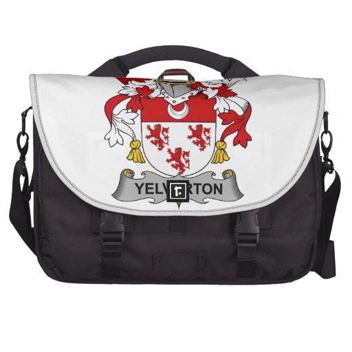 Escudo de la familia de Yelverton Bolsas Para Portatil