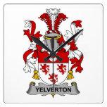 Escudo de la familia de Yelverton Reloj