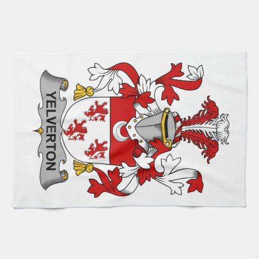 Escudo de la familia de Yelverton Toalla De Cocina