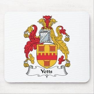 Escudo de la familia de Yetts Alfombrillas De Ratón
